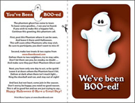 photo about You've Been Booed Printable Pdf called Youve Been Booed - Print the Phantom Ghost Poem - Halloween