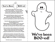 picture about You've Been Booed Free Printable identified as Youve Been Booed - Print the Phantom Ghost Poem - Halloween